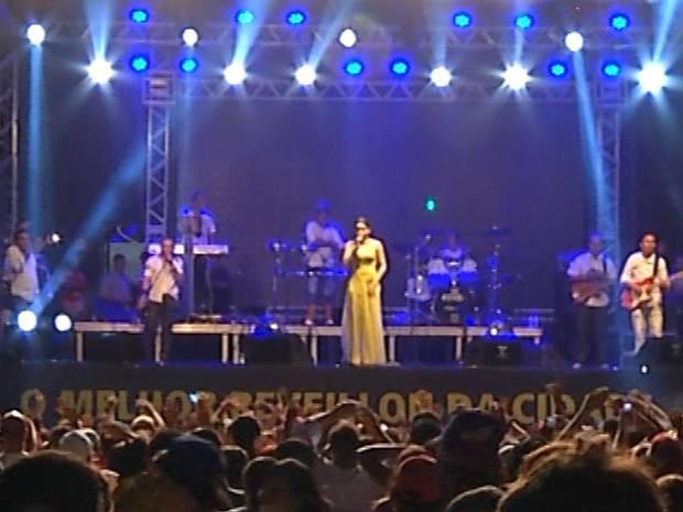 Shows animaram a chegada de 2014 na capital paraense. (Foto: Reprodução/TV Liberal)