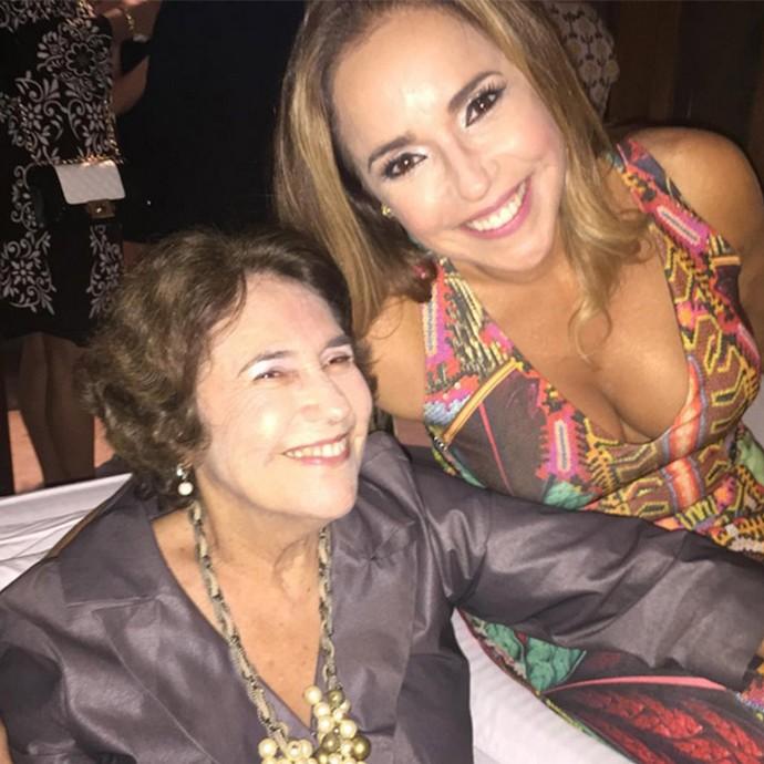 Daniela Mercury com a mãe, Liliana (Foto: Arquivo pessoal)