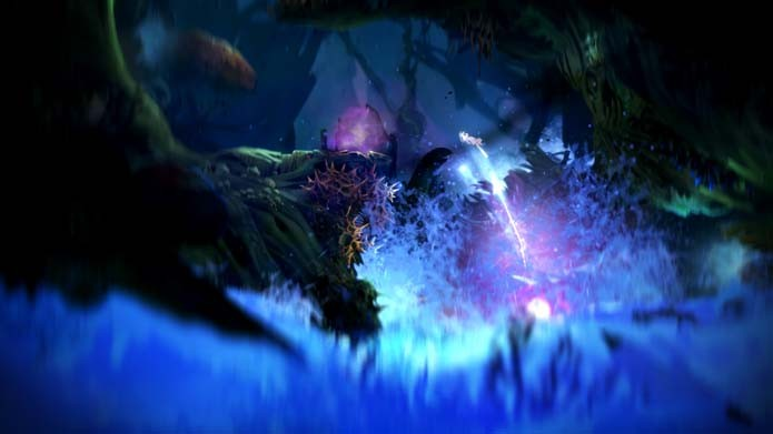 Invista na habilidade Bash de Ori and the Blind Forest (Foto: Divulgação/Moon Studios)
