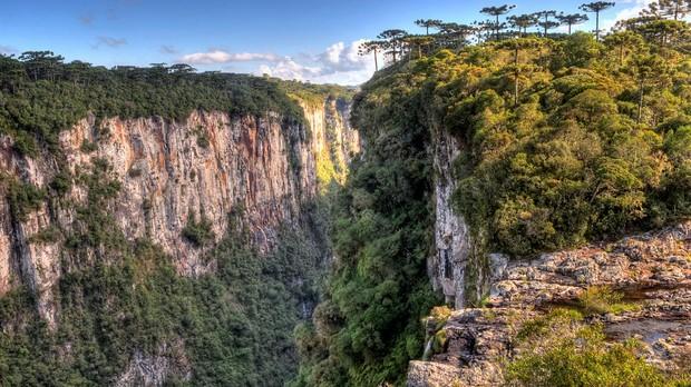 Trilha do Vrtice - Parque Nacional de Aparados da Serra , RS/SC (Foto: Germano Roberto Schr/Wikimedia Commons)