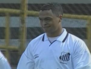 Dodô, atacante, Santos x Botafogo 2000 (Foto: Reprodução SporTV)