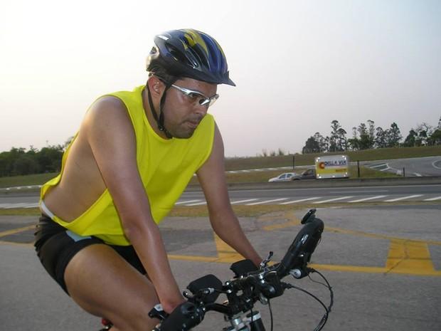 Daniel pedala há quase 12 anos (Foto: Daniel Dias Auer/Arquivo pessoal)