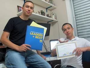 Augusto e Henrique Labella foram aprovados na Universidade de Michigan, nos EUA (Foto: Vanessa Fajardo/ G1)