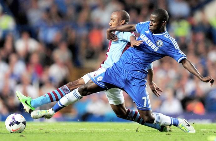 Ahmadi e Ramires Chelsea e Aston Villa (Foto: Getty Images)