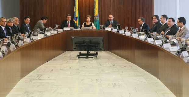 Dilma recebe juristas no Palácio do Planalto (Foto: Roberto Stuckert Filho/PR)