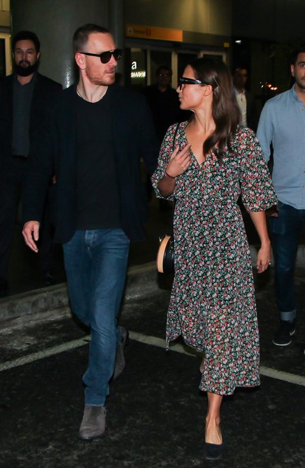 Alicia Vikander e Michael Fassbender  (Foto: Manuela Scarpa/Brazil News)
