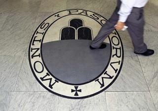 Sede do banco Monte Dei Paschi Di Siena em Roma, em imagem de arquivo (Foto: Reuters)