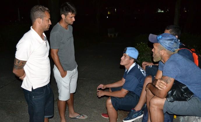 Jogadores Crise São José Esporte Clube (Foto: Filipe Rodrigues)