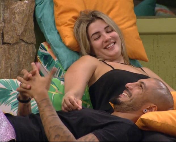 Fernando e Aline (Foto: Big Brother Brasil)