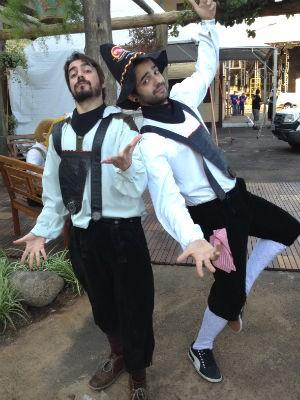 Potter e Lucas, da Fresno (Foto: Veronica De Giacomo/RBS TV)