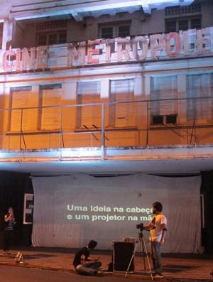 feridas arquitetônicas Uberaba arquitetura patrimônio histórico Cine Metrópole (Foto: Feridas Arquitetônicas/ Divulgação)
