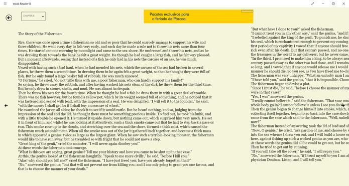 Jeitão minimalista é o trunfo do ePub Reader 8 (Foto: Reprodução/Filipe Garrett)