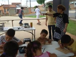 Gravoteca promove oficina gratuita no Jardim Nova Era em Salto (Foto: Divulgação/ Prefeitura de Salto)