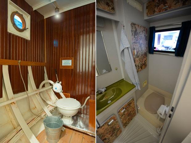 Loja reproduz banheiro de barco e de camping (Foto: Divulgação/Globetrotter.de)