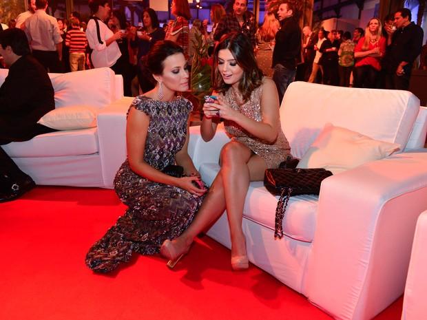 Juliana Knust e Giovanna Lancellotti em evento no Rio (Foto: André Muzell/ Ag. News)