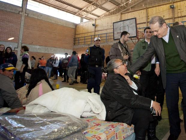 Tarso Genro enchentes cheias RS (Foto: Caco Argemi/Divulgação Palácio Piratini)