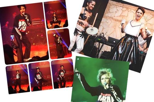 As imagens mostram o tom eclético das apresentações musicais de Nanda (Foto: Divulgação)