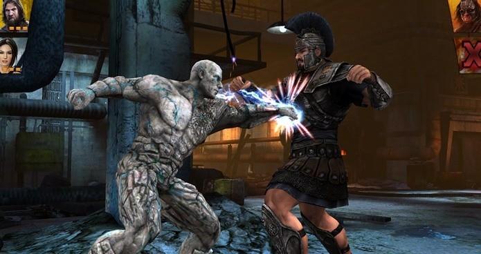 Lutadores da WWE chegam ao Android em um jogo onde eles tem superpoderes (Foto: Divulgação)
