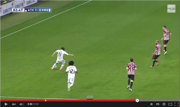FRAME - Bale arrisca do meio de campo