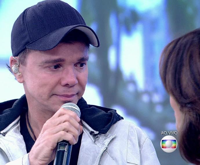 Netinho em momento de emoção no 'Encontro' (Foto: TV Globo)