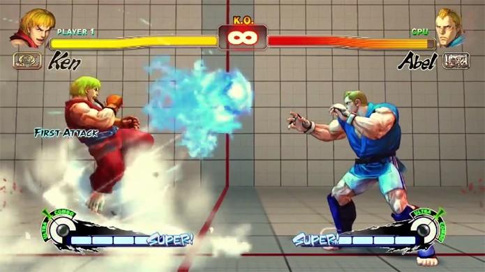 Ken agora pode disparar Hadouken pelos pés (Foto: Reprodução/Rafael Monteiro)
