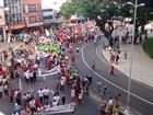 Grupo protesta contra a reforma da Previdência em João Pessoa