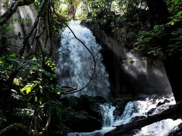 Cachoeira no complexo turístico da Salgadeira, em MT (Foto: José Medeiros/GCOM)