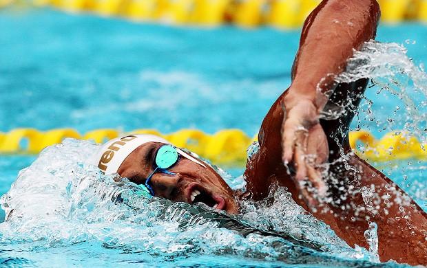 Oussama Mellouli   1500 metros livre  Troféu Maria Lenk de Natação (Foto: Satiro Sodré/Divulgação CBDA)