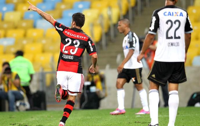 Eduardo da Silva comemoração Flamengo (Foto: Márcio Mercante  / Agência Estado)