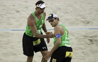 Ricardo/Emanuel fica em primeiro, e duas duplas brasileiras passam em 3º