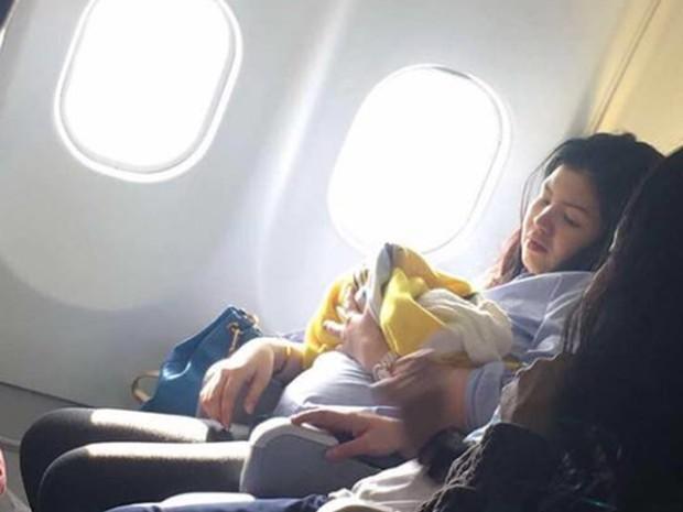 Mulher deu à luz uma menina prematura durante voo entre Dubai a Manila (Foto: Reprodução G1/ Missy Berberabe Umandal)