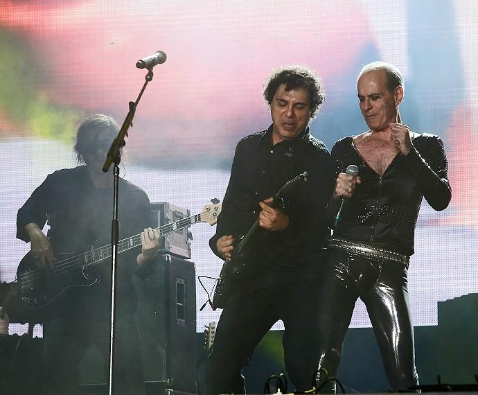 Frejat e Ney Matogrosso no Palco Mundo do Rock in Rio (Foto: Fábio Rocha/Gshow)