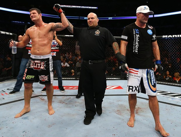 UFC  152 Michael Bisping e Brian Stann (Foto: Agência Getty Images)
