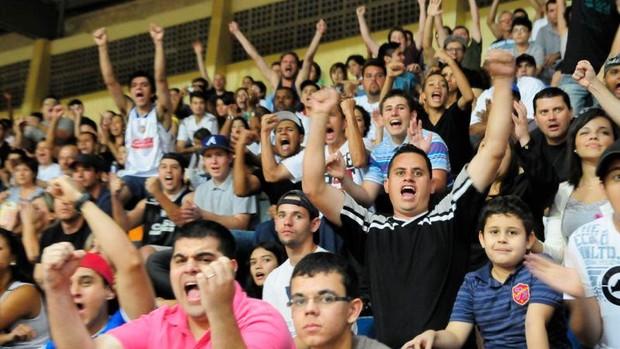 Liga Sorocabana de Basquete x Rio Claro - Paulista de Basquete - torcida (Foto: Divulgação / LSB)