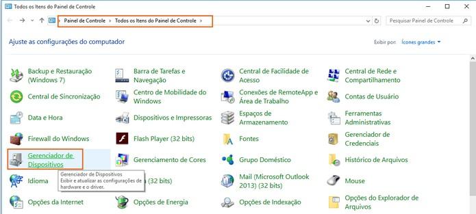 Acesse o painel de controle no Windows 10 (Foto: Reprodução/Barbara Mannara)