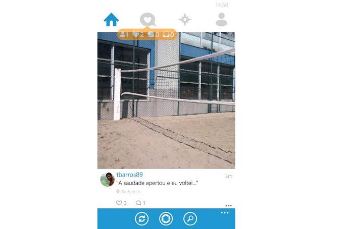 Esta é a timeline do Instagram no 6tag (Foto: Reprodução/Thiago Barros)