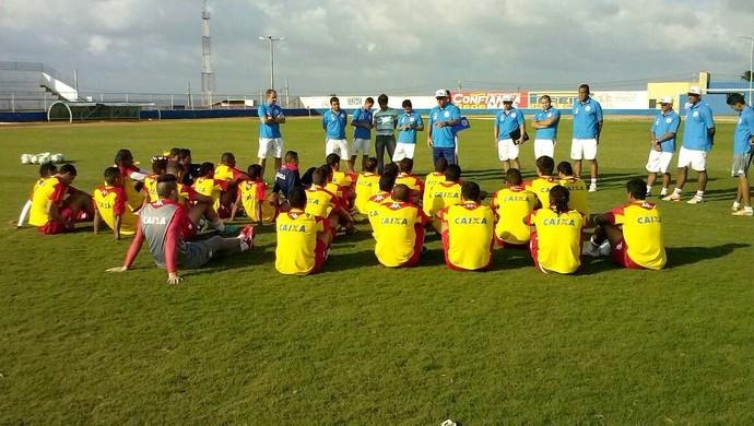 Treino América-RN Estádio Nazarenão Goianinha (Foto: Edmo Natan/Divulgação)