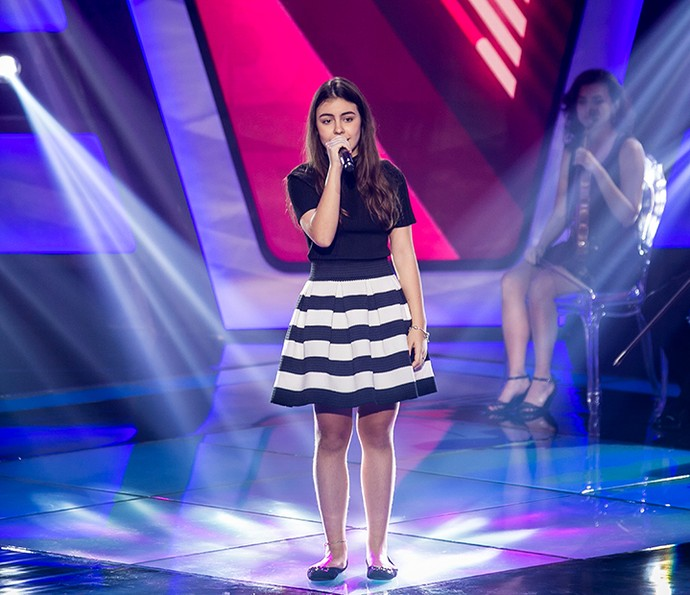 Luiza Prochet canta 'Your Song' no The Voice Kids (Foto: Isabella Pinheiro/Gshow)