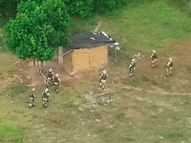 Seis morrem e quatro são presos em operação no Recôncavo Baiano (Foto: Divulgação/SSP-BA)
