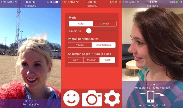 Faça pequenas animações selfie em diferentes ângulos com o selfie360 (Foto: Divulgação/AppStore)