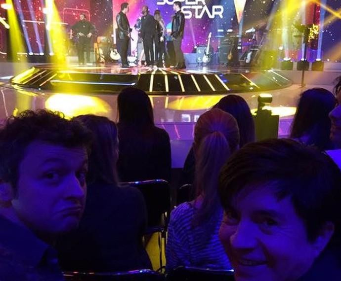 Cantar com Lucas Lima e Xororó na plateia... Que responsa! (Foto: Arquivo pessoal)