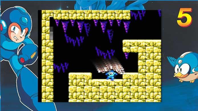 Mega Man Legacy Collection com Mega Man 5 (Foto: Reprodução/Felipe Vinha)