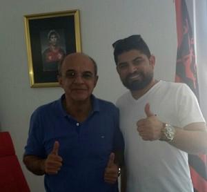 Presidentes do Flamengo e do Petrolina  (Foto: Divulgação / Petrolina)