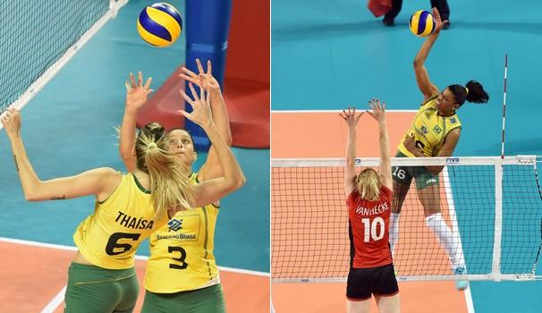 Meninas do Brasil estão a 2 vitórias do décimo título (Foto: Reprodução Globoesporte)