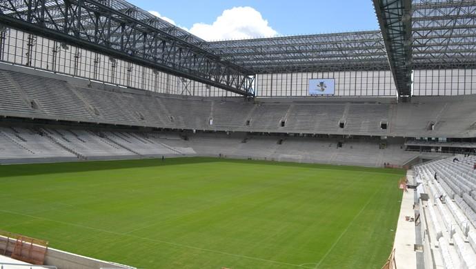 Telão da Arena da Baixada, do Atlético-PR (Foto: Site oficial do Atlético-PR/Divulgação)
