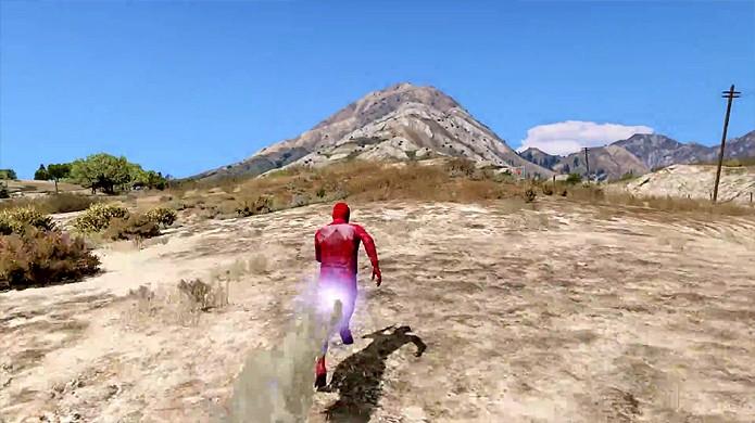 Novo mod que traz super-velocidade de The Flash para GTA 5 impressiona (Foto: Reprodução/YouTube)