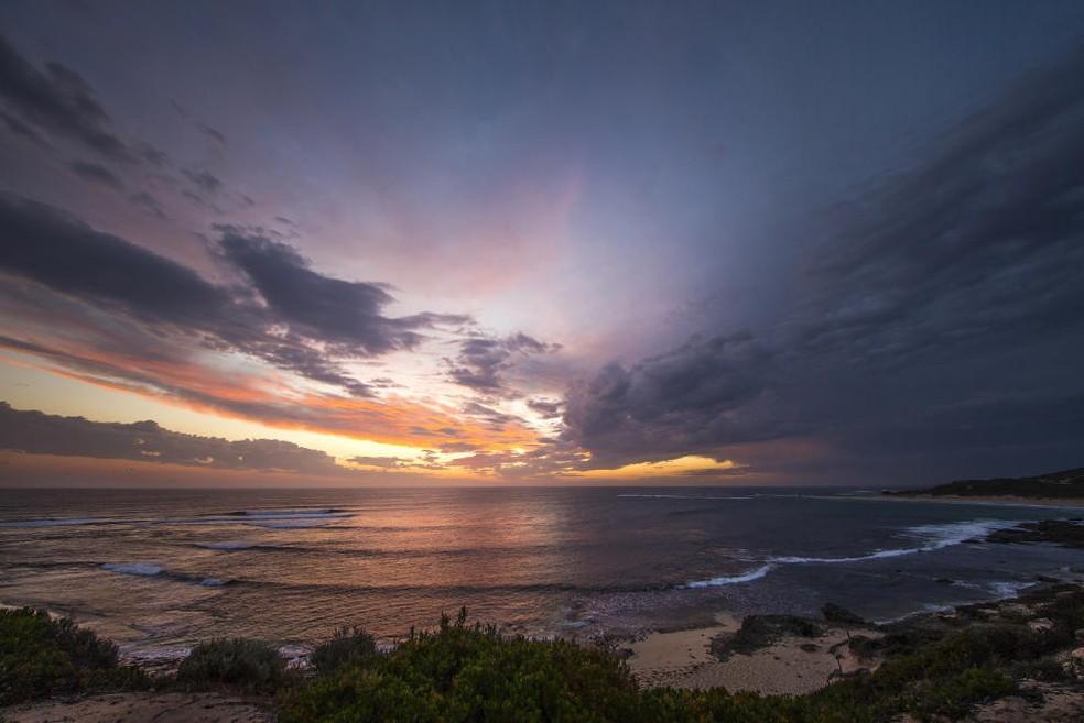 Margaret River: território de natureza selvagem, ondas grandes, pesadas e tubarões brancos no oeste da Austrália (Foto: Divulgação/WSL)
