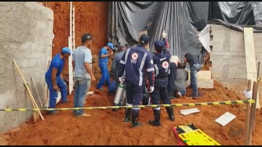 Homem morre soterrado durante obra residencial em Guapé, MG