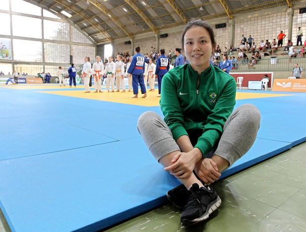 Yuko Fujii, treinadora da seleção brasileira de judô, em Natal (Foto: Wander Roberto/Inovafoto/COB)