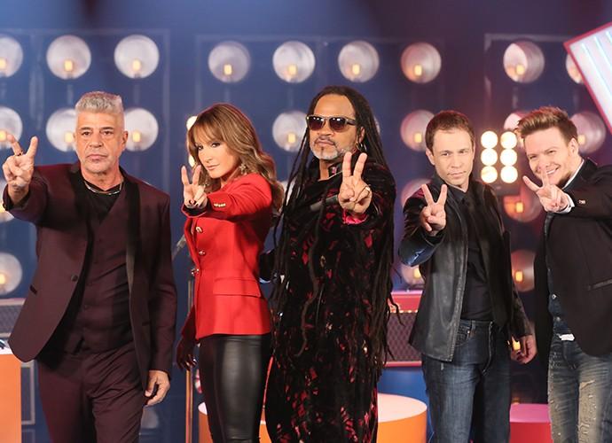 Claudia Leitte, Brown, Lulu, Teló e Leifert estarão na coletiva do The Voice Brasil (Foto: Isabella Pinheiro / Gshow)